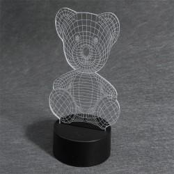 LAMPARA OSITO MULTICOLOR EFECT 3D