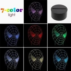 LAMPARA SPIDERMAN EFECT 3D
