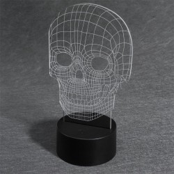 LAMPARA CALAVERA EFECT 3D
