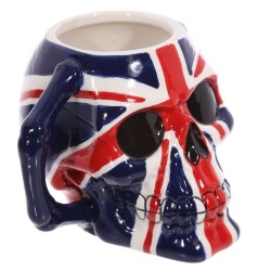 Taza de Cerámica forma de Calavera Bandera de UK