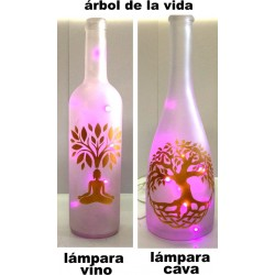 BOTELLA LÁMPARA LEDS